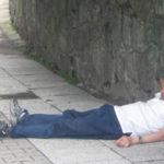 Pijani Polacy na ulicach Leeds?