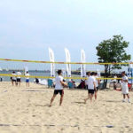 Business people play volleyball – Beach Volleyball Business Cup 2015 in Gdańsk