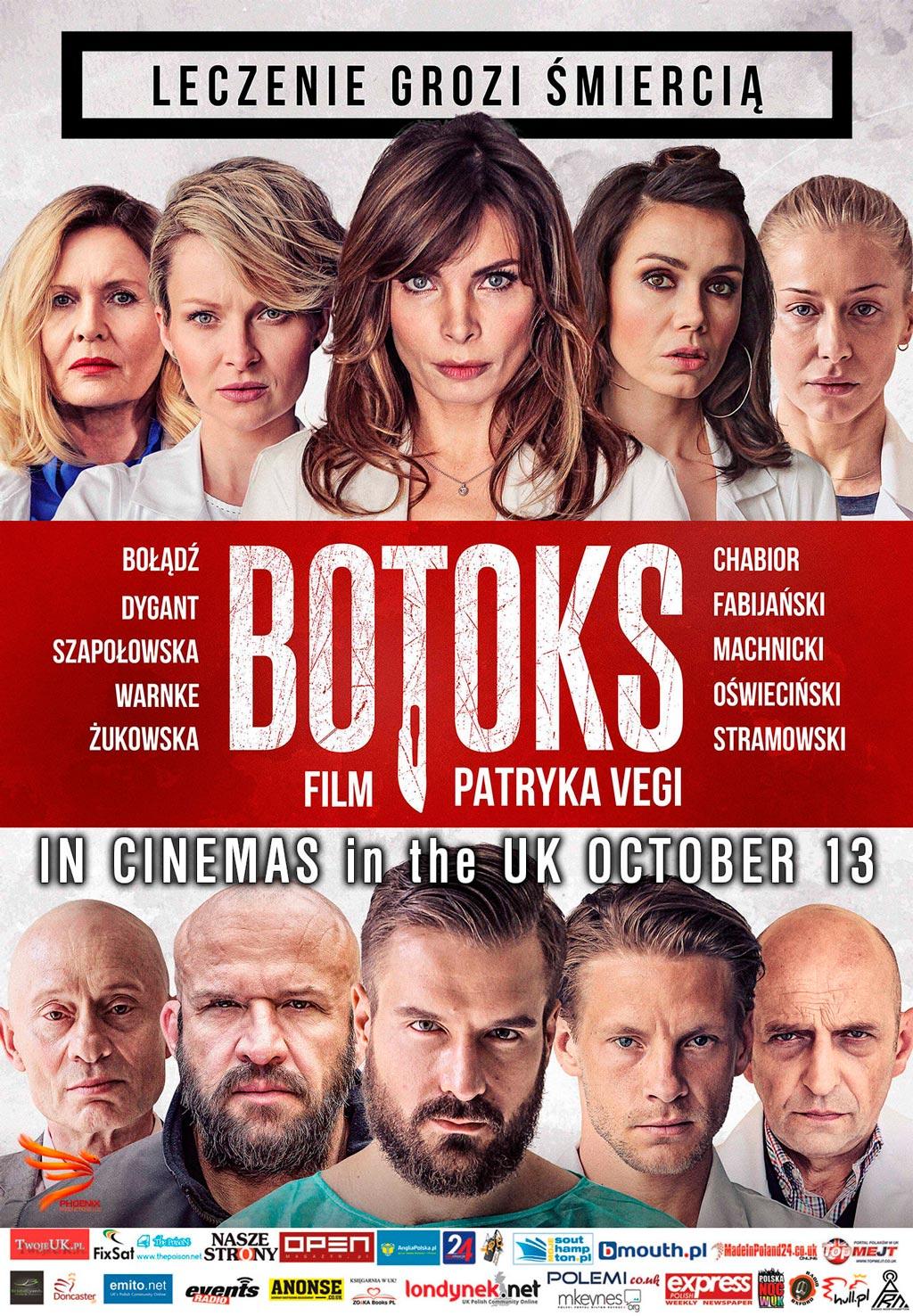 Botoks Patryka Vegi w kinach w UK