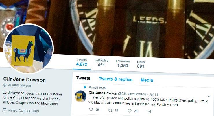 Rasistowski wpis w kierunku Polaków na profilu społecznościowym burmistrza Leeds